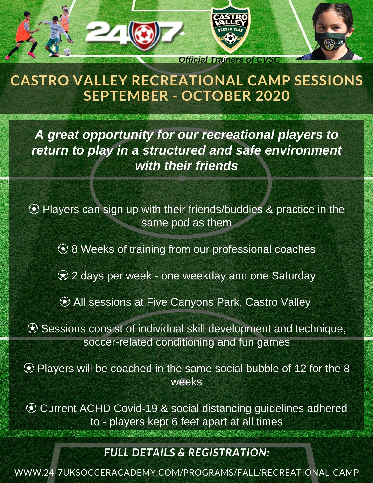 Castro Valley Recreational Camp Sessions
