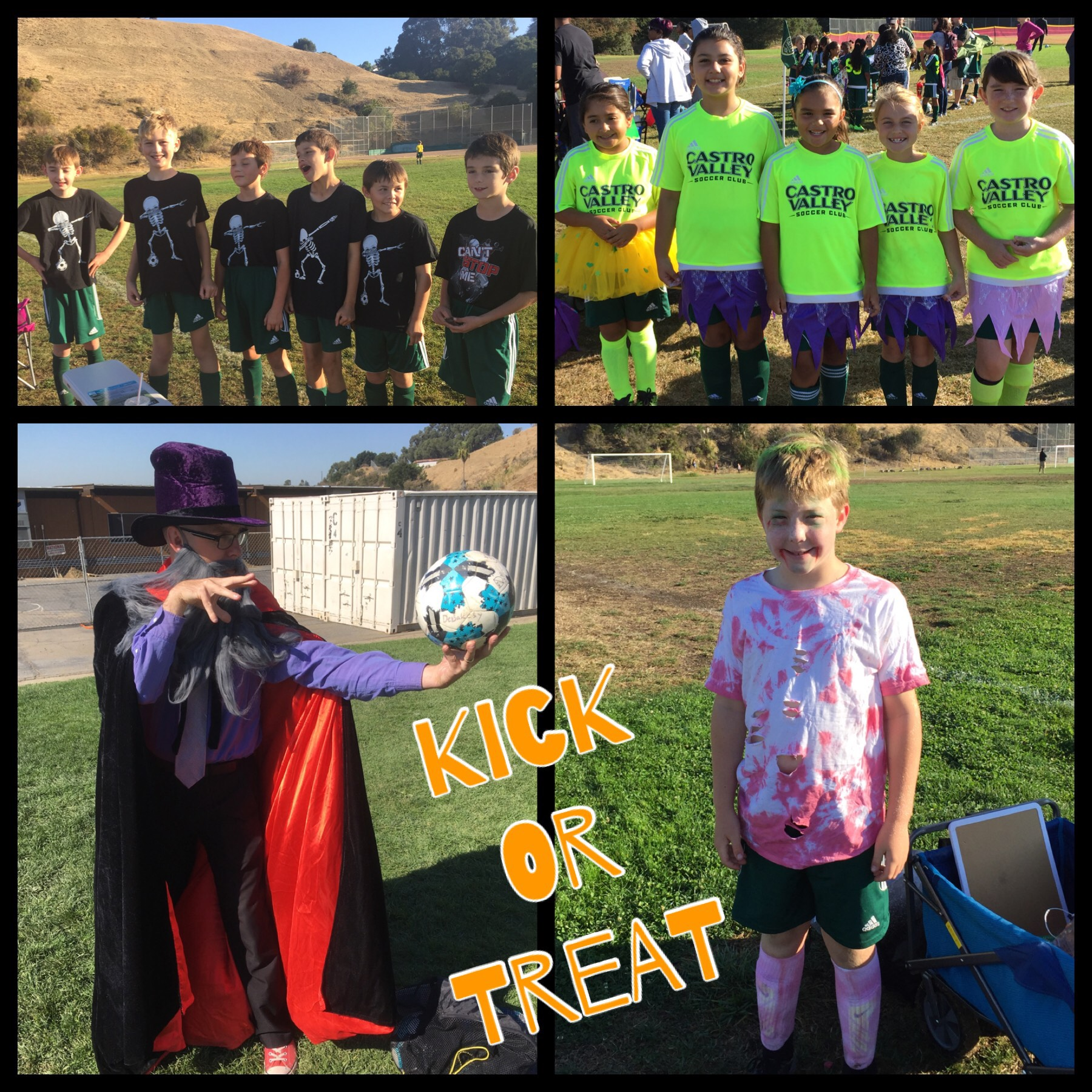 Bumblebees & Grasshoppers Kick or Treat Game Day Event